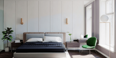Our bedrooms are truly our happy spaces;  Image via Home Designing