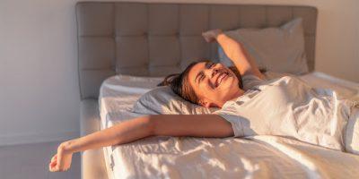 Waking up happy; Image via LUXlife Magazine